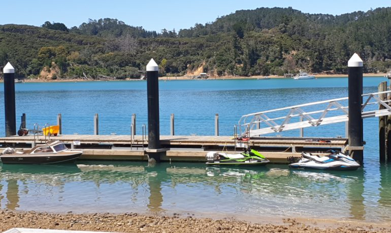 The Crystal clear waters of   Kawau Island